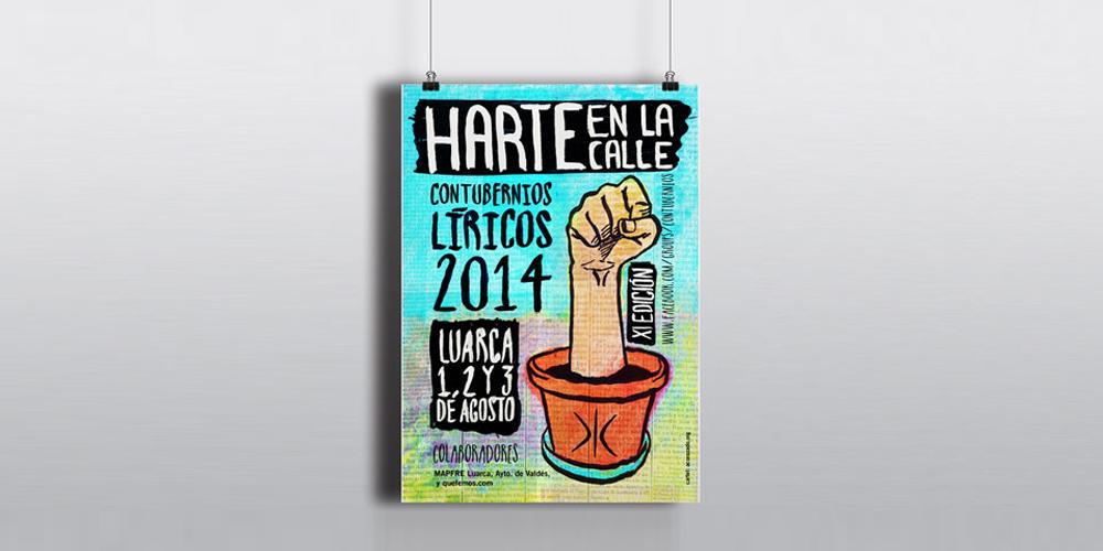 Cartel Contubernios Líricos (jullio 2014) - diseño gráfico - acorazado.org - quino romero