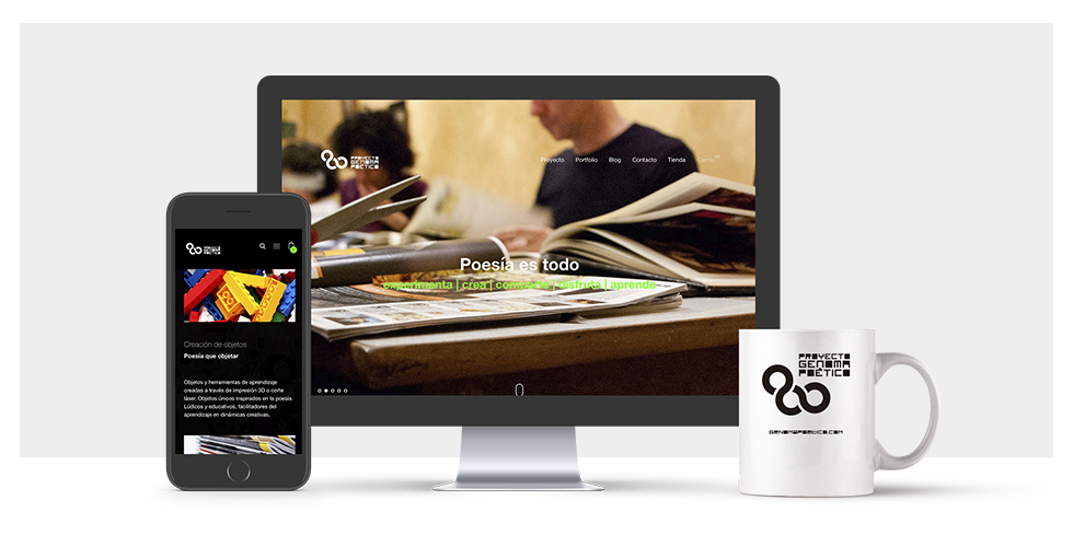 Diseño, imagen y web genomapoetico.com (2017) - acorazado.org